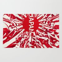 japan Area & Throw Rugs featuring Japan by Danny Ivan