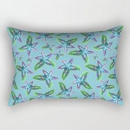 Beaded Floral Pattern Rectangular Pillow