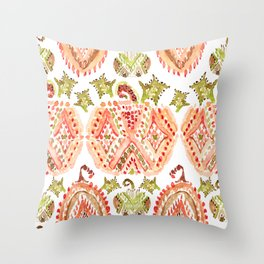 PUMPKIN SPICE Boho Watercolor Throw Pillow