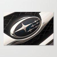 subaru Canvas Prints featuring Subaru Logo by SShaw Photographic