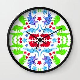 Dino Pretty Black Wall Clock