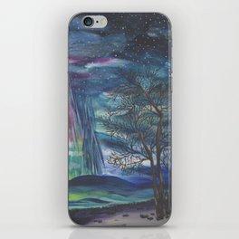 Starry Sky with Aurora Borealis iPhone Skin