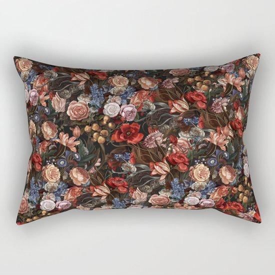 Vintage Summer Floral Rectangular Pillow