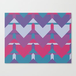 Cool Waves #society6 #violet #pattern Canvas Print