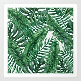 Palm Leaf Tropical Pattern Art Print