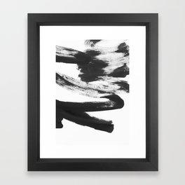 b+w strokes 5 Framed Art Print