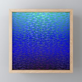 Sharks In Deep Water. Framed Mini Art Print