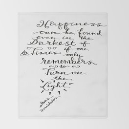 Happiness - Dumbledore  Throw Blanket