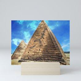 Kush Empire pyramids - Jebel Barkal - Sudan Mini Art Print