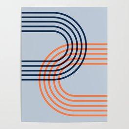 Counterbalance - orange blue Poster