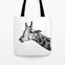 Giraffe Animal Photography Minimalism | Black and White Art Tote Bag