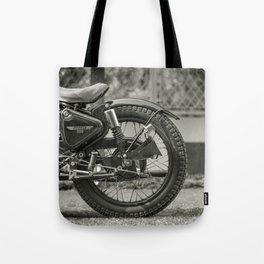 The Vintage Royal Enfield Bullet 350 Motorcycle Tote Bag