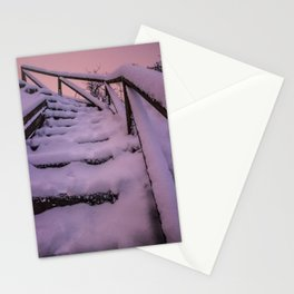 Snow covered Stairway to Heaven Stationery Cards