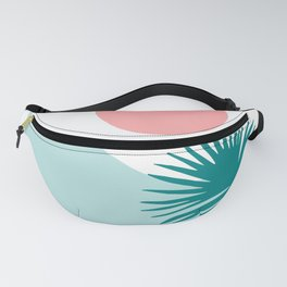 Tropical Beach, Minimalist Abstract Illustration Fanny Pack
