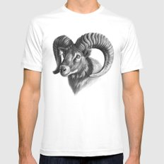 The mouflon G125 MEDIUM Mens Fitted Tee White