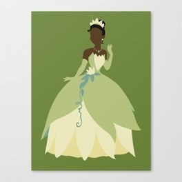 Tiana from Princess and the Frog Canvas Print