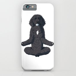 Yoga Portuguese Water Dog iPhone Case