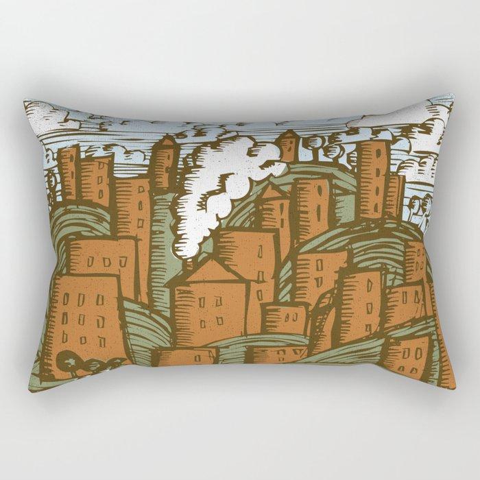 A CITY ON A HILL Rectangular Pillow