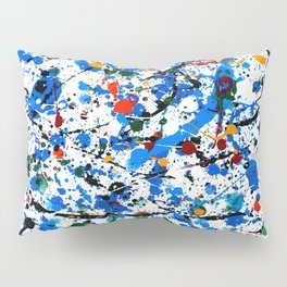 Abstract #23 - Frenzy in Blue Pillow Sham