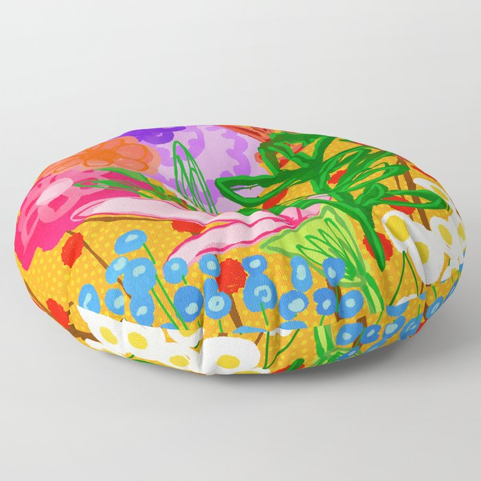 flower bomb Floor Pillow