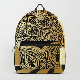 Background with golden floral Backpack
