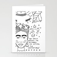 banksy Stationery Cards featuring Kahlo x Banksy by ☿ cactei ☿