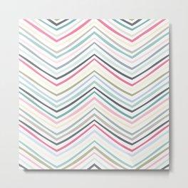 Eve Modern Multicolor Stripe Metal Print