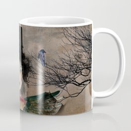 Lady in a Black Hat Coffee Mug