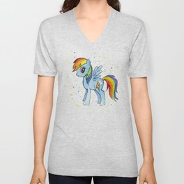 Rainbow Pony Unisex V-Neck