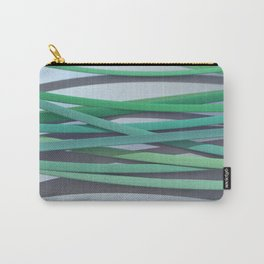ribbon paper background green Carry-All Pouch