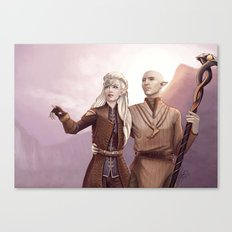 Dragon Age - Finding Skyhold - Solas and Inquisitor Canvas Print