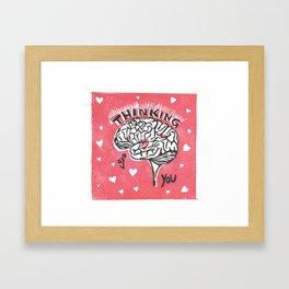 Thinking of You Brainy Valentine Framed Art Print