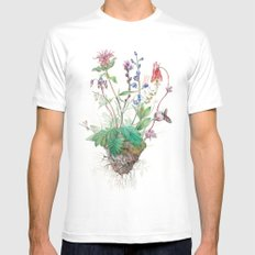 Wildflowers White Mens Fitted Tee 2X-LARGE