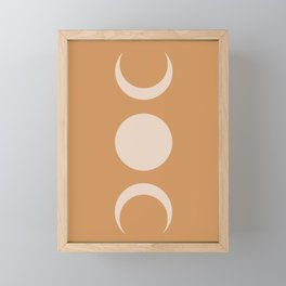 Moon Minimalism - Desert Sand Framed Mini Art Print