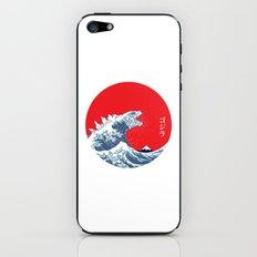 Hokusai kaiju iPhone & iPod Skin