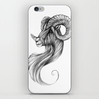 ram iPhone & iPod Skins featuring Ram by Judy Csotsits