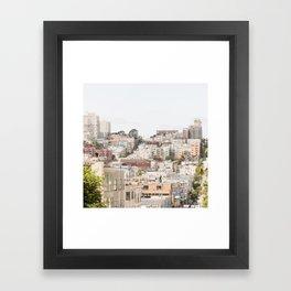 Top of a San Francisco Hill - San Francisco Photography Framed Art Print
