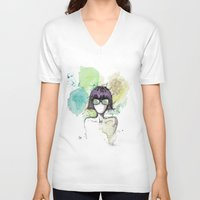 mia wallace V-neck T-shirts featuring Mia. by Cloe