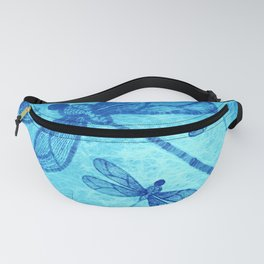 Beautiful dragonflies in blue Fanny Pack