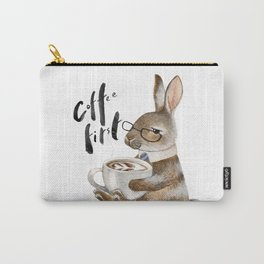 Coffee First Bunny Carry-All Pouch