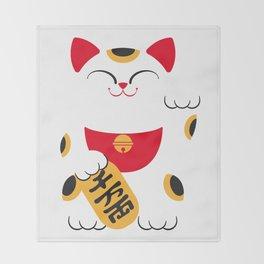 Japan Serie 4 - MANEKI NEKO Throw Blanket
