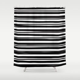 stripe x stripe Shower Curtain