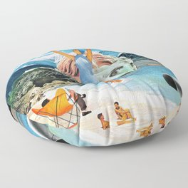 Poseidon in Love Floor Pillow