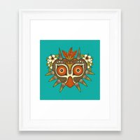 majora Framed Art Prints featuring Tiki Majora by Paula García