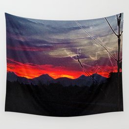Darkness Ascending Wall Tapestry