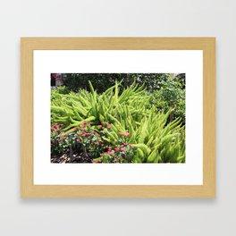 Sunny Green Framed Art Print