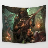 hunter Wall Tapestries featuring Hunter by Mitul Mistry