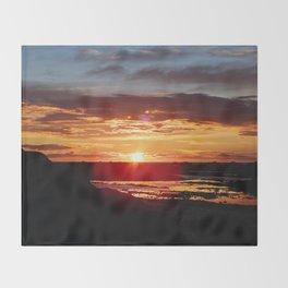 Ground Level Sunset Throw Blanket