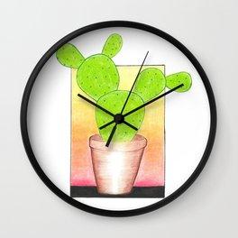 Prickly Pear Puesta Del Sol Wall Clock