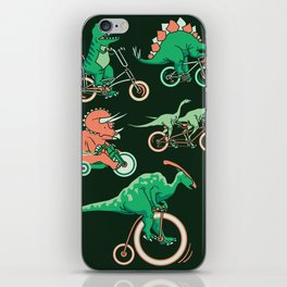 Dinosaurs on Bikes! iPhone Skin